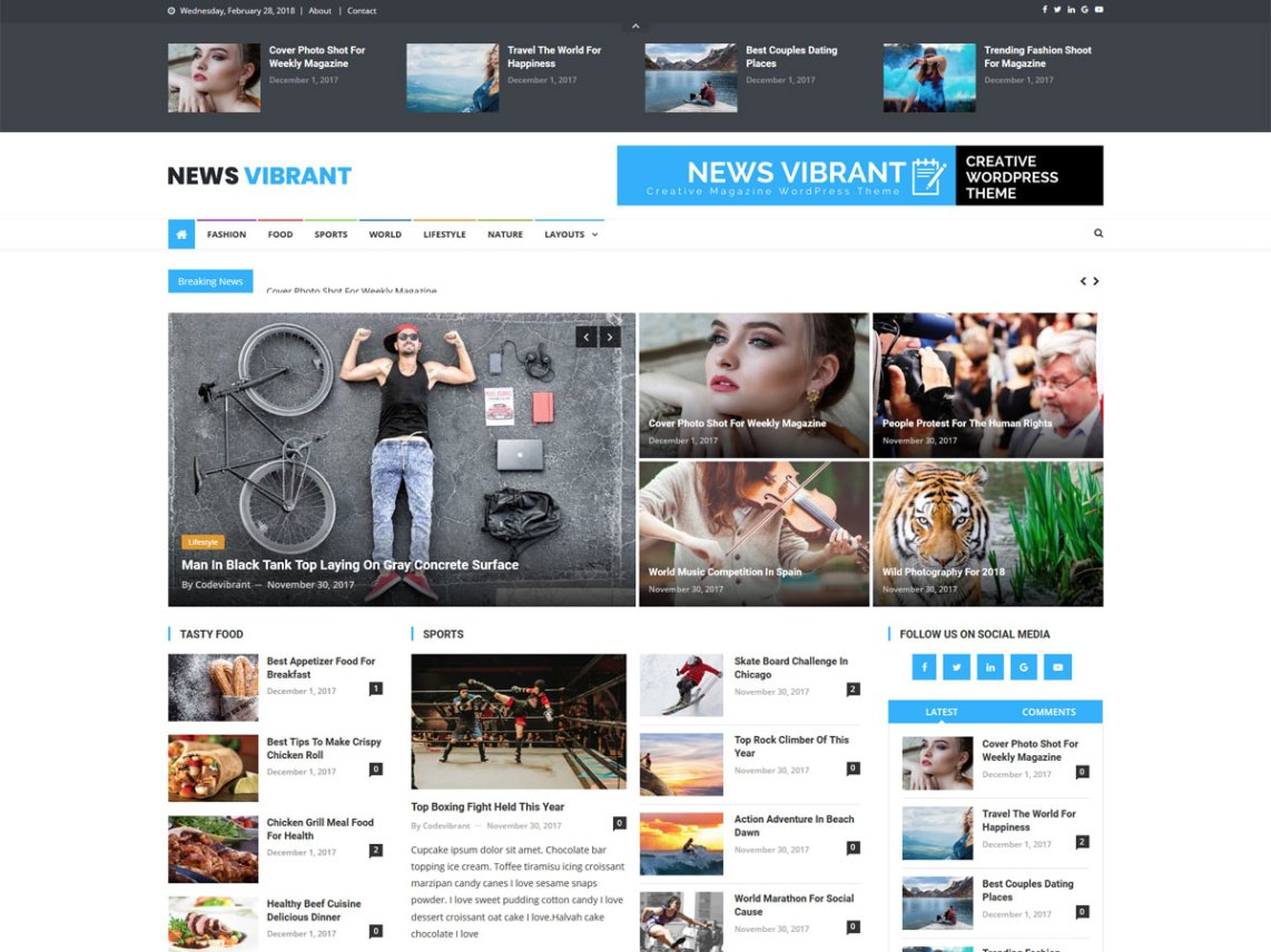 Best Free Magazine Wordpress Themes 2020 Theme Freesia