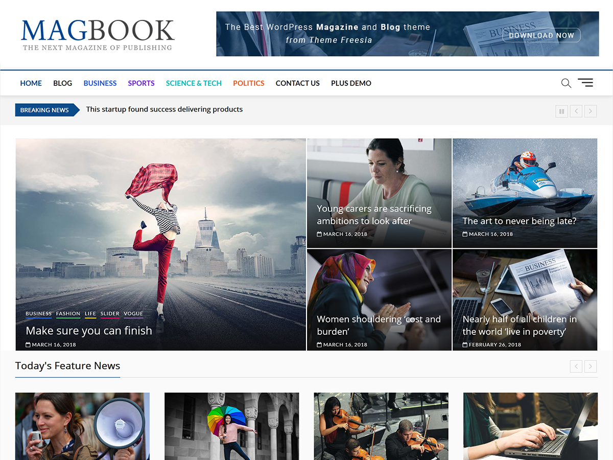 best wordpress blog themes free download