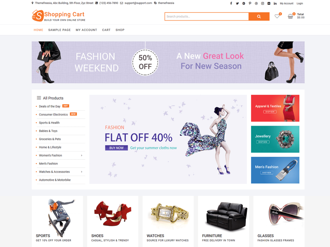 4de5b4e0a Best Free WordPress E-Commerce Themes 2019 - Theme Freesia