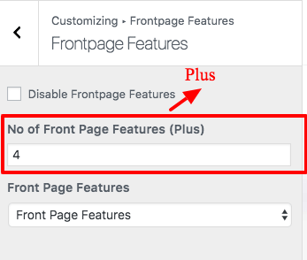 Frontpage Features