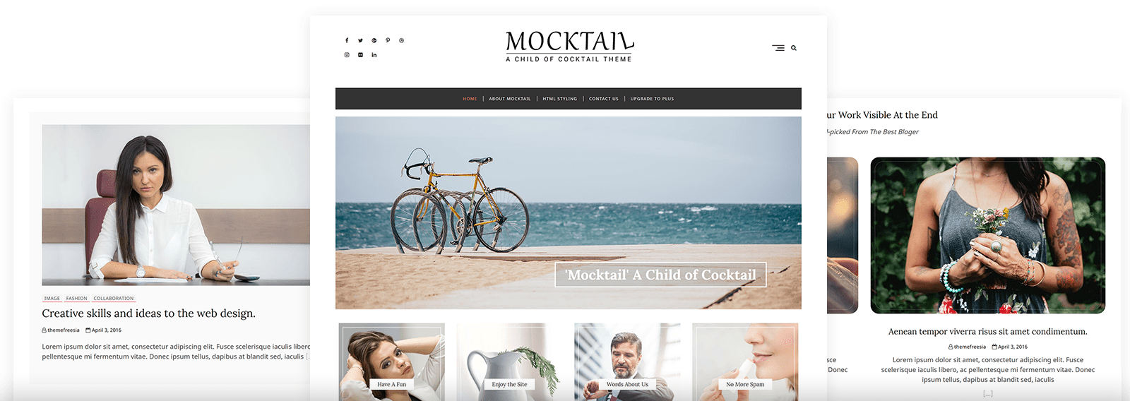 Mocktail Free Themes
