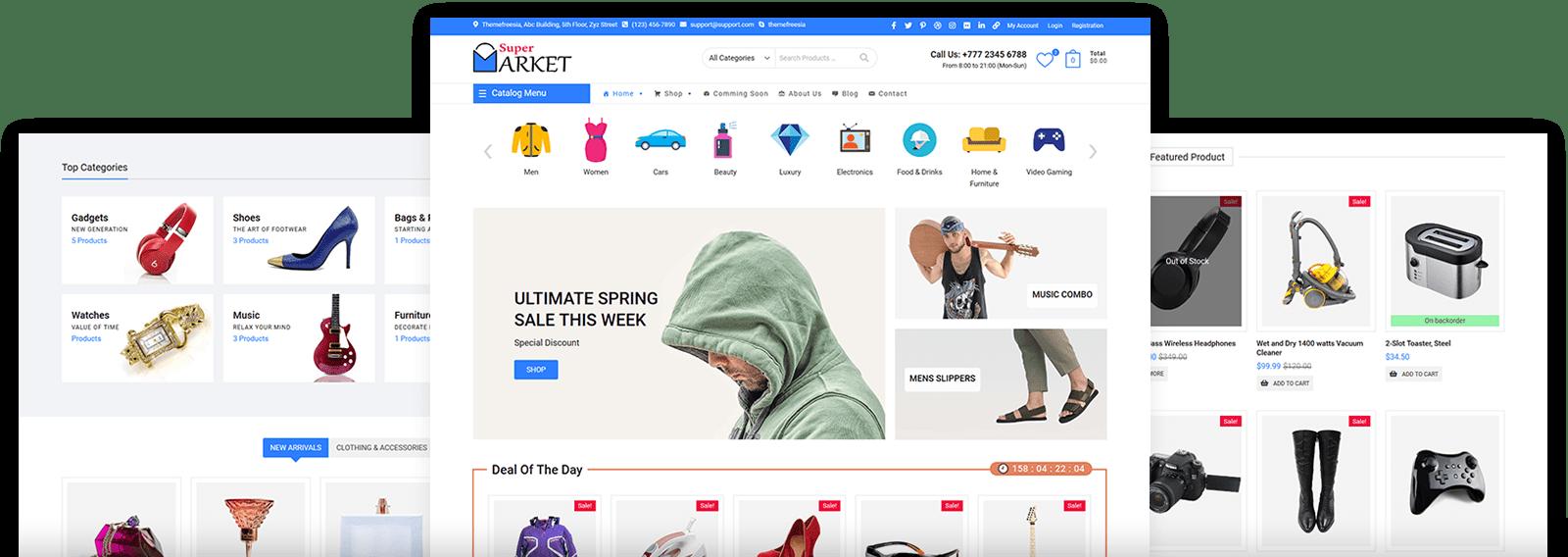 Latest Supermarket WordPress Theme